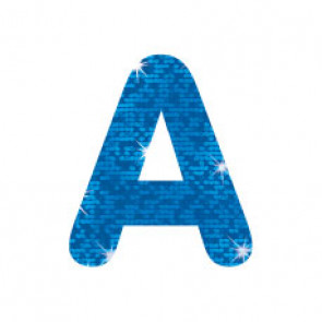 Stick-On Letters | Blue Sparkle