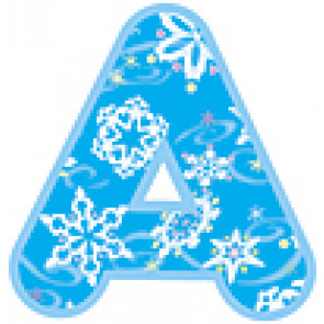 Alphabet Display Letters | Winter Snowflake