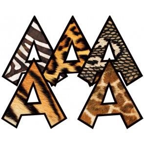 Animal Prints Alphabet Letters