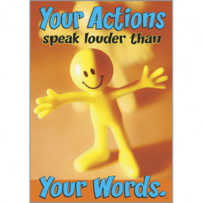 Posters for Children | Actions Speak Louder than Words