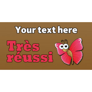 Personalised School Stickers | Très réussi ! French Marking! Design Custom Standard Stickers