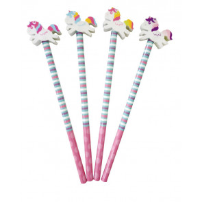 Kids Gifts | Low Cost Class Gifts / Party Bag Fillers - Unicorn Pencils with Eraser Toppers