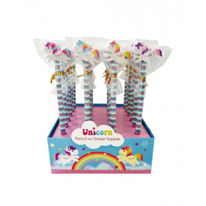 Bulk Kids Gifts | Low Cost Class Gifts / Party Bag Fillers - Unicorn Pencils with Eraser Toppers