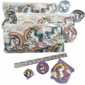 Unicorn Stationery | Low Cost Unicorn Pencil Cases - 5 piece stationery sets.