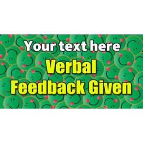Personalised School Stickers | Verbal Feedback Given! Design Custom Standard Stickers