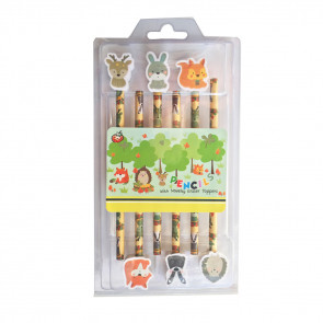 Class Gifts | Woodland Animal Toppers / Pencils Gift Set