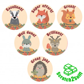 Smelly Stickers | Woodland Friends Scented Reward Stickers - English Messages
