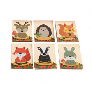 Class Gifts | 12 x Woodland Friends / Animals Mini Notepads