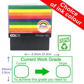 Teacher Stamps | Current Work Grade / Target / Feedback Marking Stamp