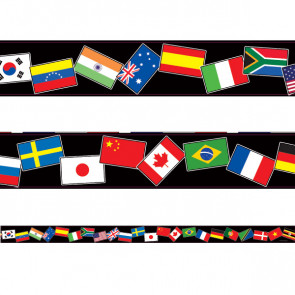 Classroom Borders | World Flags