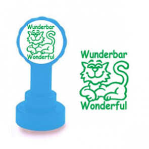 School Stamp | Wunderbar / Wonderful German Self-Inking Teacher Stamp - No ink pad required.