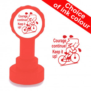 Teacher Stamps | Courage Continue ! / Keep it up! French Teacher Stamp