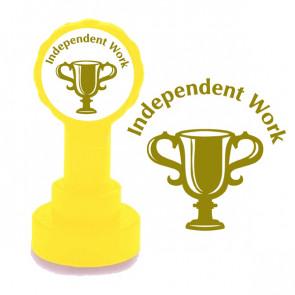 Teacher Stamps | Independent Work Gold Ink School Stamps