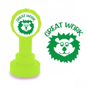 School Stamps | Great Work, Cute Lion Face Stamper