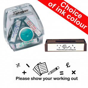 School Stamps | Please show your working out. Xstamper 3-in-1 Twist Stamp