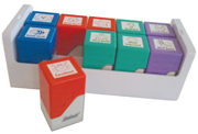 Self-inking teacher stamps