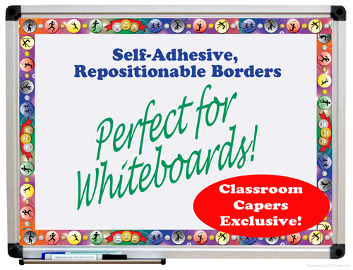 Classroom Whiteboard Decoration ~ Teachertalk theme your whiteboard to add colour
