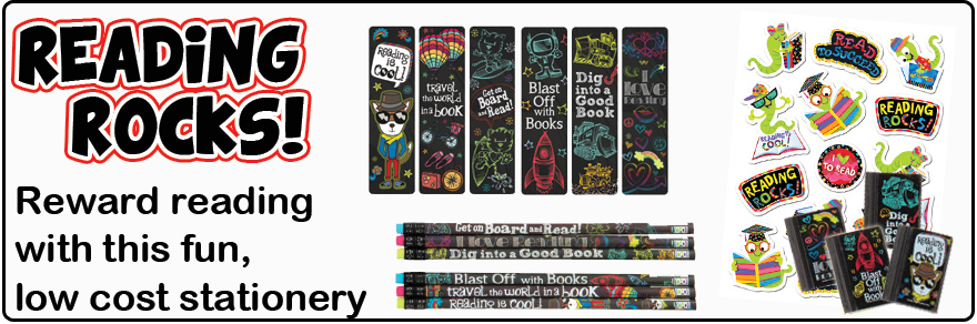 Motivate reading with our reading rocks stationery