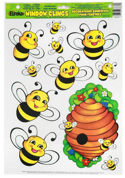 Bee window clings