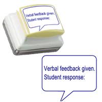 Verbal Feedback. Student Response Teacher Stamper