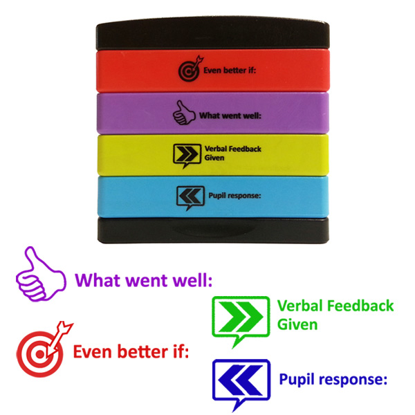 Teacher Assessment & Feedback Self-Inking Multi-Stamp