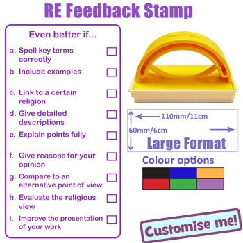 Religious Education Feedback Teacher Marking Stamp