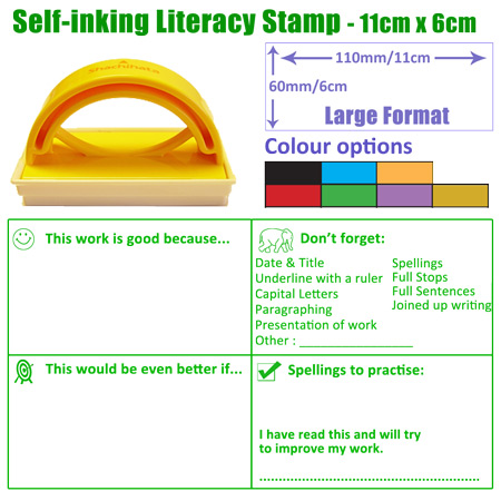 Large Format Self-inking KS3 Literacy Stamp for Teachers