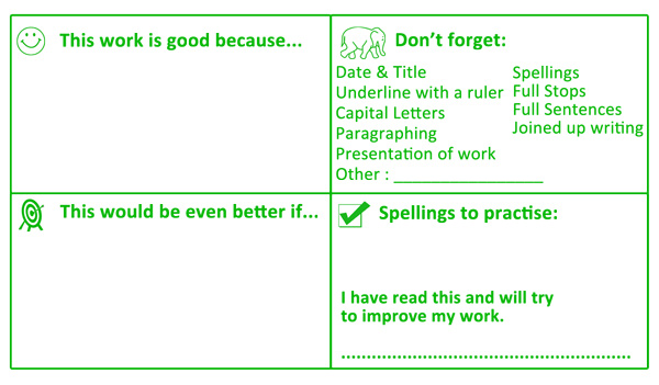 Key Stage 3 Large Format, Literacy Marking Stamper