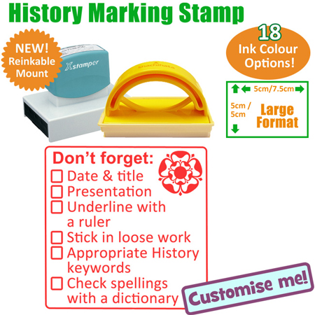 History Checklist Marking Teacher Stamp
