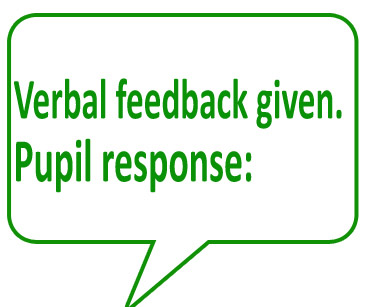 Verbal feedback given. By: Stamps for Teachers
