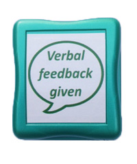 Value Teacher Stamps - Verbal feedback given