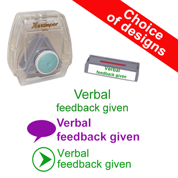 Teacher marking stamp - Verbal Feedback