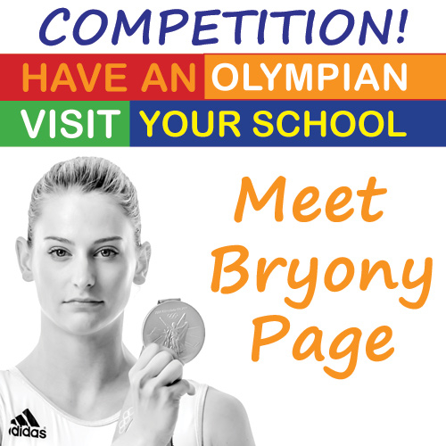 School Stamps Competition with Olympian Bryony Page