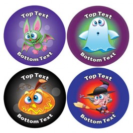 Halloween Design Personalised Stickers